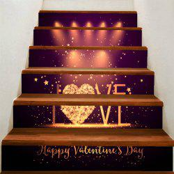 Love Stage Printed Removable Stair Stickers -