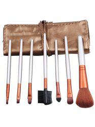 7Pcs Portable Beauty Tools Makeup Brushes Set With Bag -