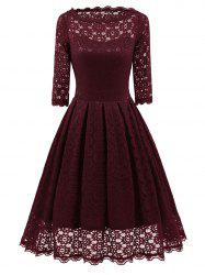 Lace Party Vintage Fit and Flare Dress -