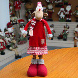Christmas Dress-up Elk Shape Stretchable Cloth Doll -
