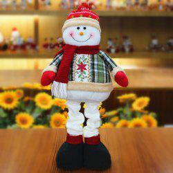 Winter Santa Claus or Snowman Stretchable Cloth Doll -