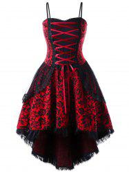 Plus Size Lace Up Layered Corset Dress -