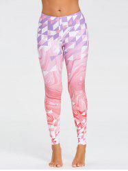 Fresh Geometric Pattern Yoga Tights -