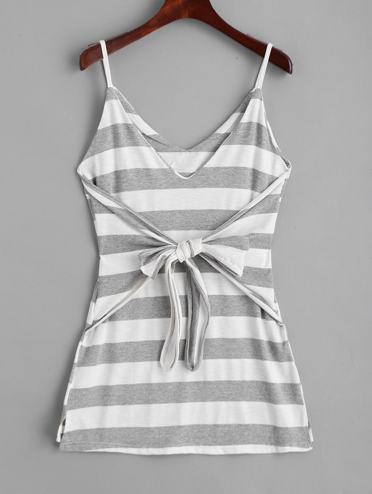 Outfit Bowknot Stripes Slip Mini Dress