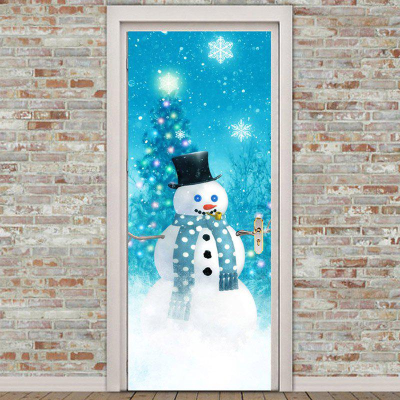 Christmas Snowman Door Cover Cover Holiday Christmas Door: [70% OFF] Christmas Snowman Tree Pattern Door Cover