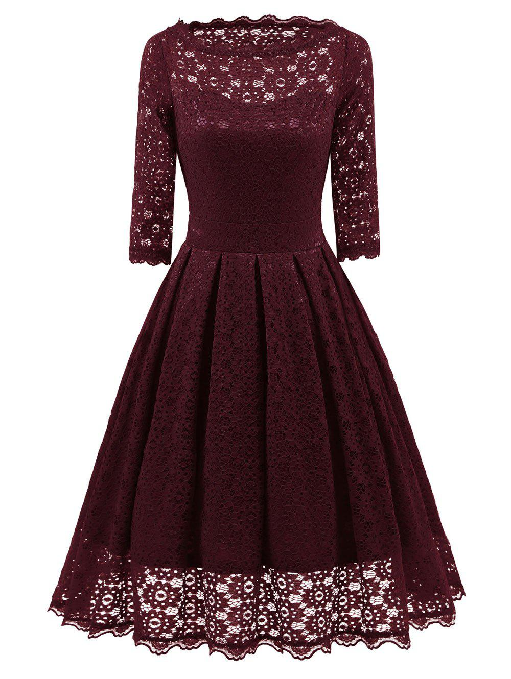 Shop Lace Party Vintage Fit and Flare Dress