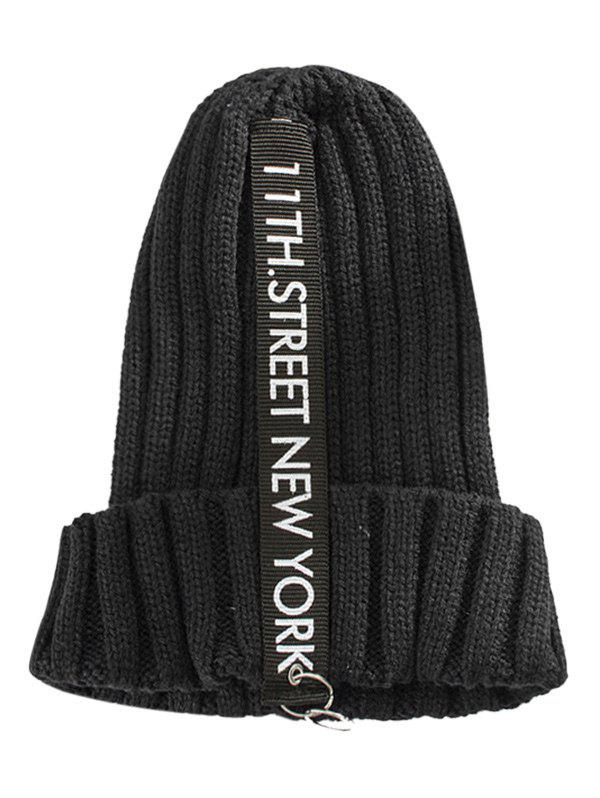 Fancy Outdoor Letter and Rings Embellished Knitted Beanie