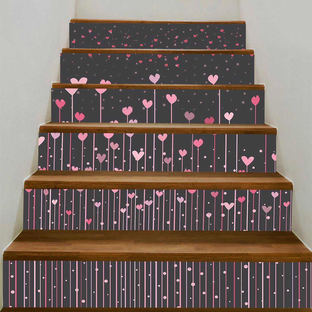 Online Hearts Hanging Pattern Removable Stair Stickers