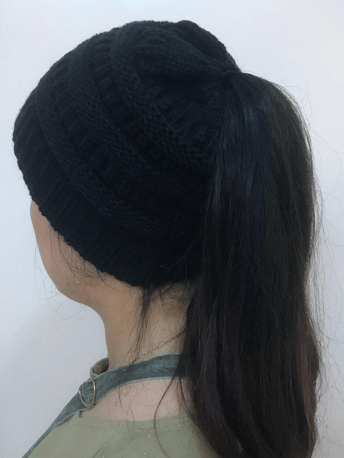 Online Open Top Mixcolour Knitted Hat