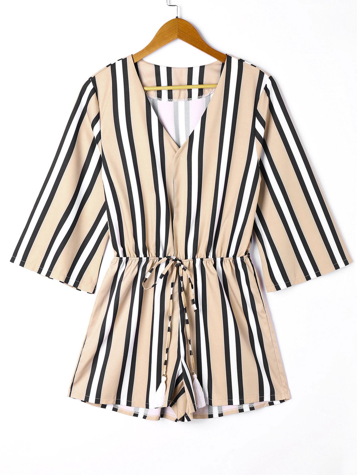 Best V Neck Striped Romper