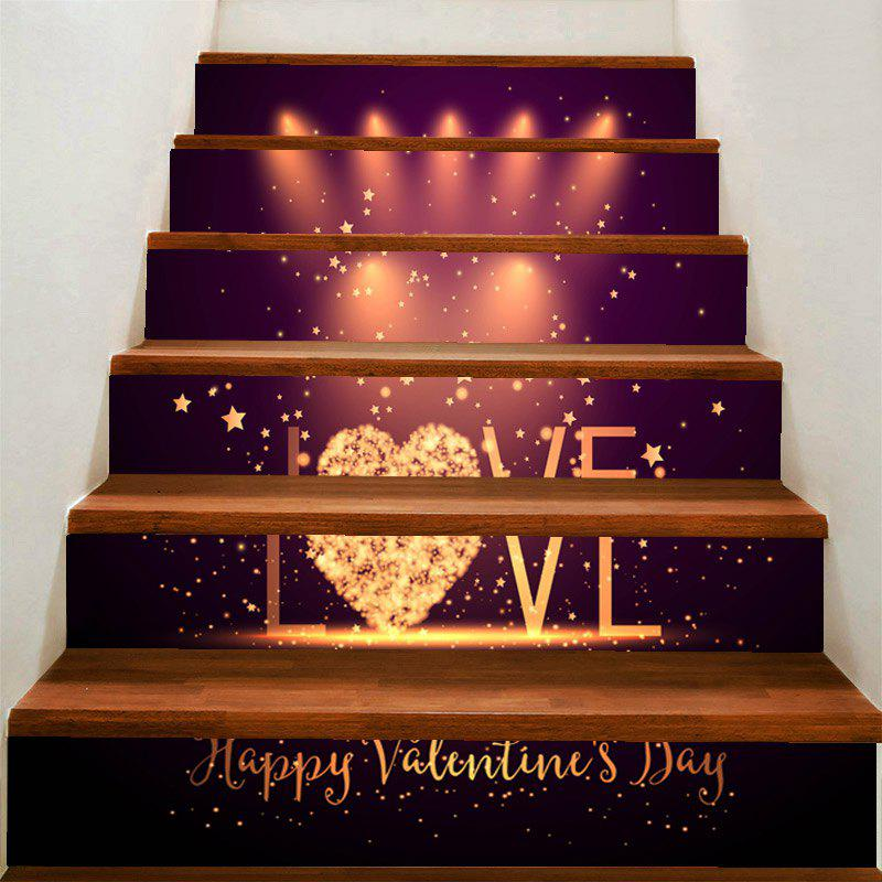 Outfits Valentine's Day Love Stage Printed Removable Stair Stickers