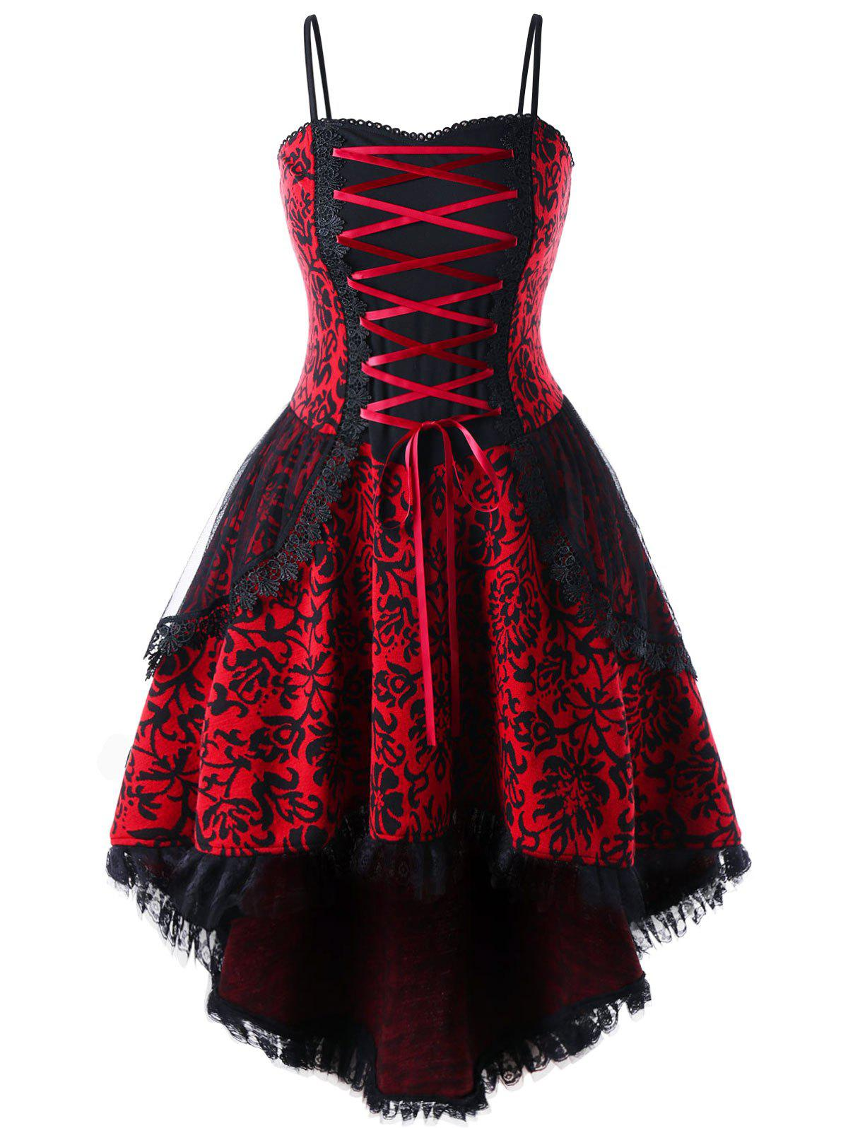 Plus Size Lace Up Layered Corset Dress