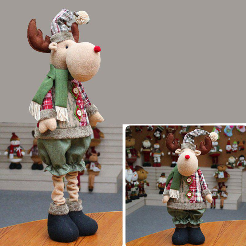Latest Santa Claus Snowman Reindeer Stretchable Doll Christmas Decoration