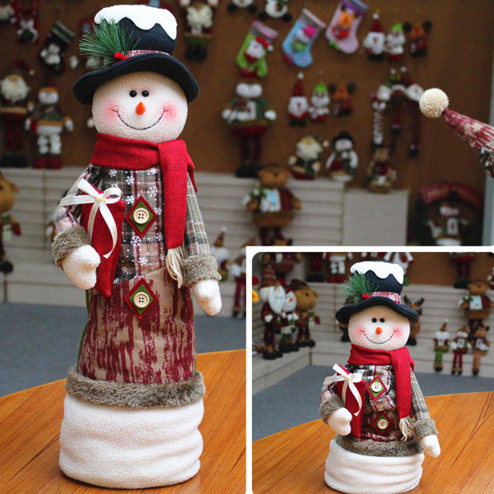 Cheap Santa Claus Snowman Stretchable Cloth Doll Ornament Christmas