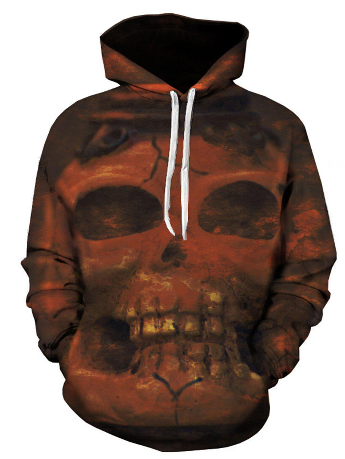 Fashion Skull 3D Print Pullover Hoodie