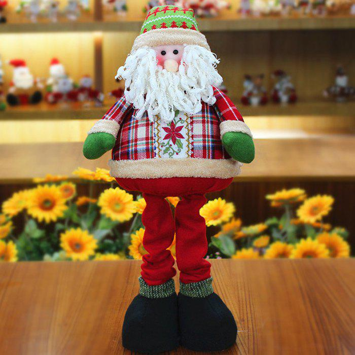 Store Winter Santa Claus or Snowman Stretchable Cloth Doll