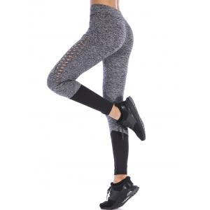 Openwork Two Tone Yoga Leggings -