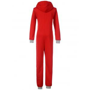 Cute Graphic One Piece Pajamas with Hooded -