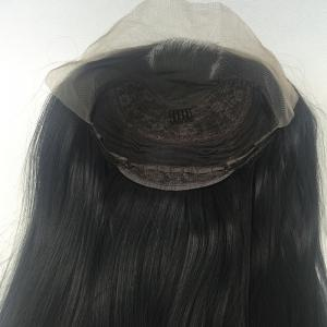 Long Deep Inclined Bang Straight Lace Front Synthetic Wig -