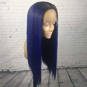 Long Center Parting Straight Lace Front Synthetic Wig -