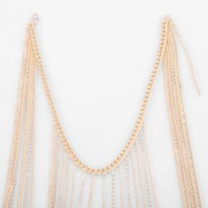 Alloy Layered Fringed Body Chain -