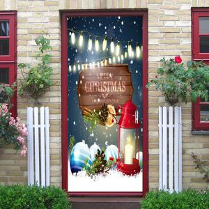 Christmas Lantern Baubles Pattern Door Cover Stickers -