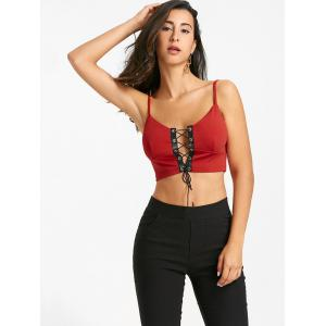 Padded Lace Up Camisole -