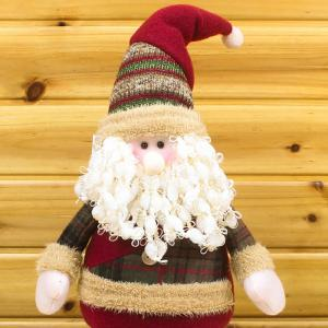 Winter Dress-up Santa Claus or Snowman Stretchable Cloth Doll -