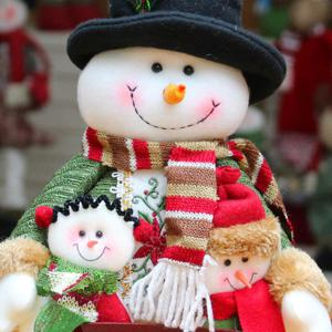 Santa Claus Snowman Dress-up Cloth Doll Ornament Christmas -