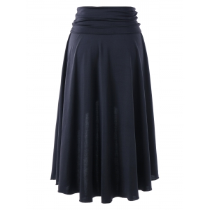 Plus Size Split Asymmetrical High Low Skirt -