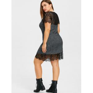 Plus Size Lace Dress and Marled Tank Top -