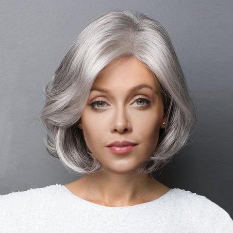 Cheap Short Side Parting Slightly Curled Bob Synthetic Wig