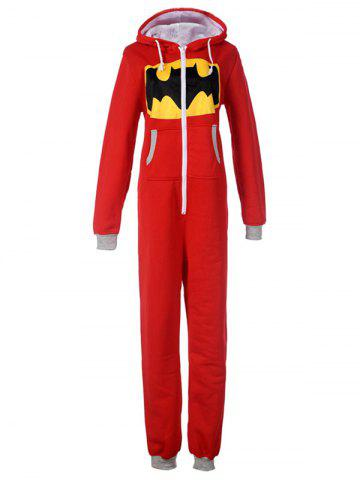 New Cute Graphic One Piece Pajamas with Hooded