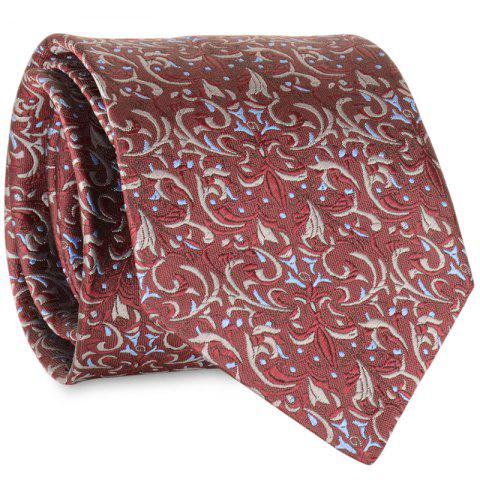 Best Cashew Pattern Embellished Faux Silk Necktie