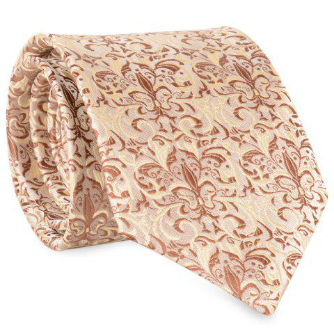 Fancy Cashew Pattern Embellished Faux Silk Necktie
