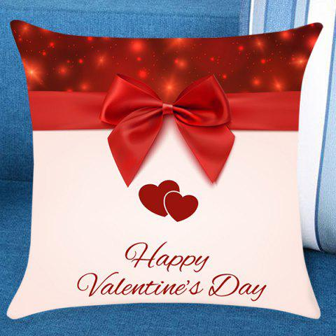 Online Valentine's Day Bowknot Print Pillow Case