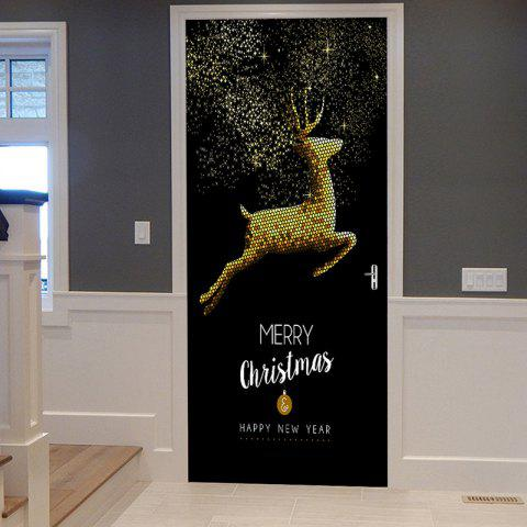 Shops Christmas Home Decoration Flying Elk Printed Door Stickers