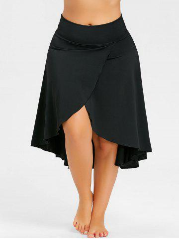 Discount Plus Size Split Asymmetrical High Low Skirt