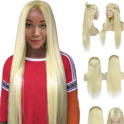 Long Center Parting Braided Straight Lace Front Synthetic Wig -