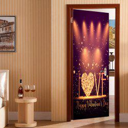 Valentine Days Love Stage Pattern Autocollants de porte amovibles Enviromental -