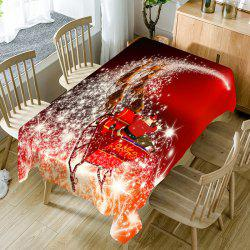 Christmas Starlight Carriage Pattern Home Decor Table Cloth