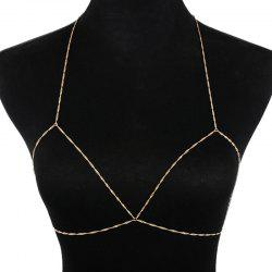 Simple Geometric Body Bra Chain -