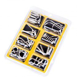 Metal 9 Ring Puzzle Toys 8Pcs/Sets Intelligence Buckle -
