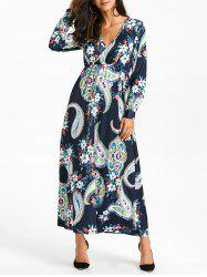 Ethnic Printed Floral Maxi Dress -