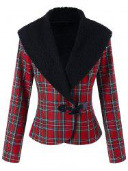 Plaid Horn Button Jacket -