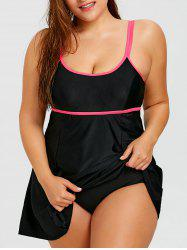Underwire Plus Size Skirted Swimsuit -