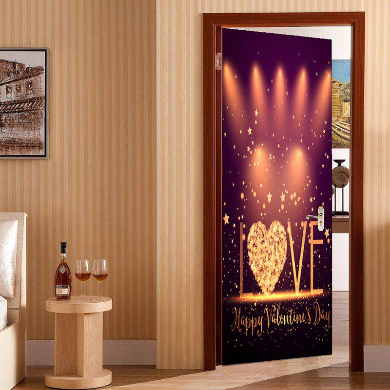 Outfits Valentine Days Love Stage Pattern Enviromental Removable Door Stickers