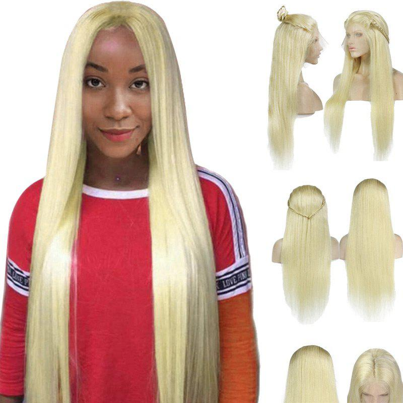 Outfit Long Center Parting Braided Straight Lace Front Synthetic Wig