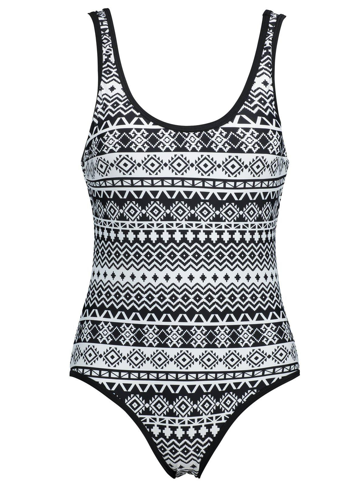Outfit Low Back Plus Size Printed Swimsuit