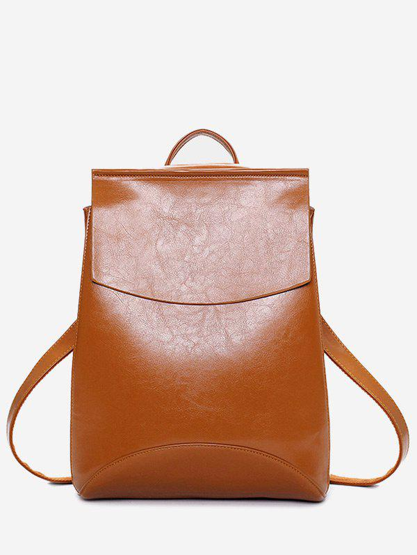 New Faux Leather Portable Backpack